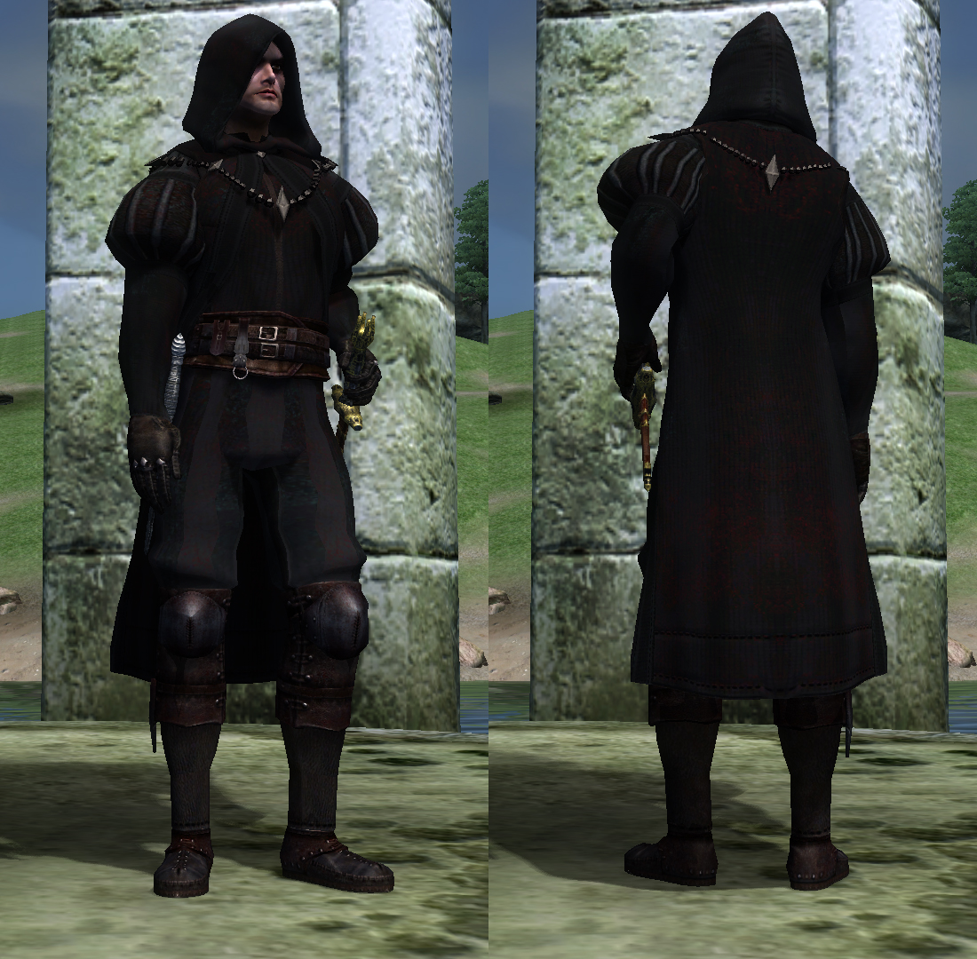 Black Hand Robe Replacer Oblivion Mods
