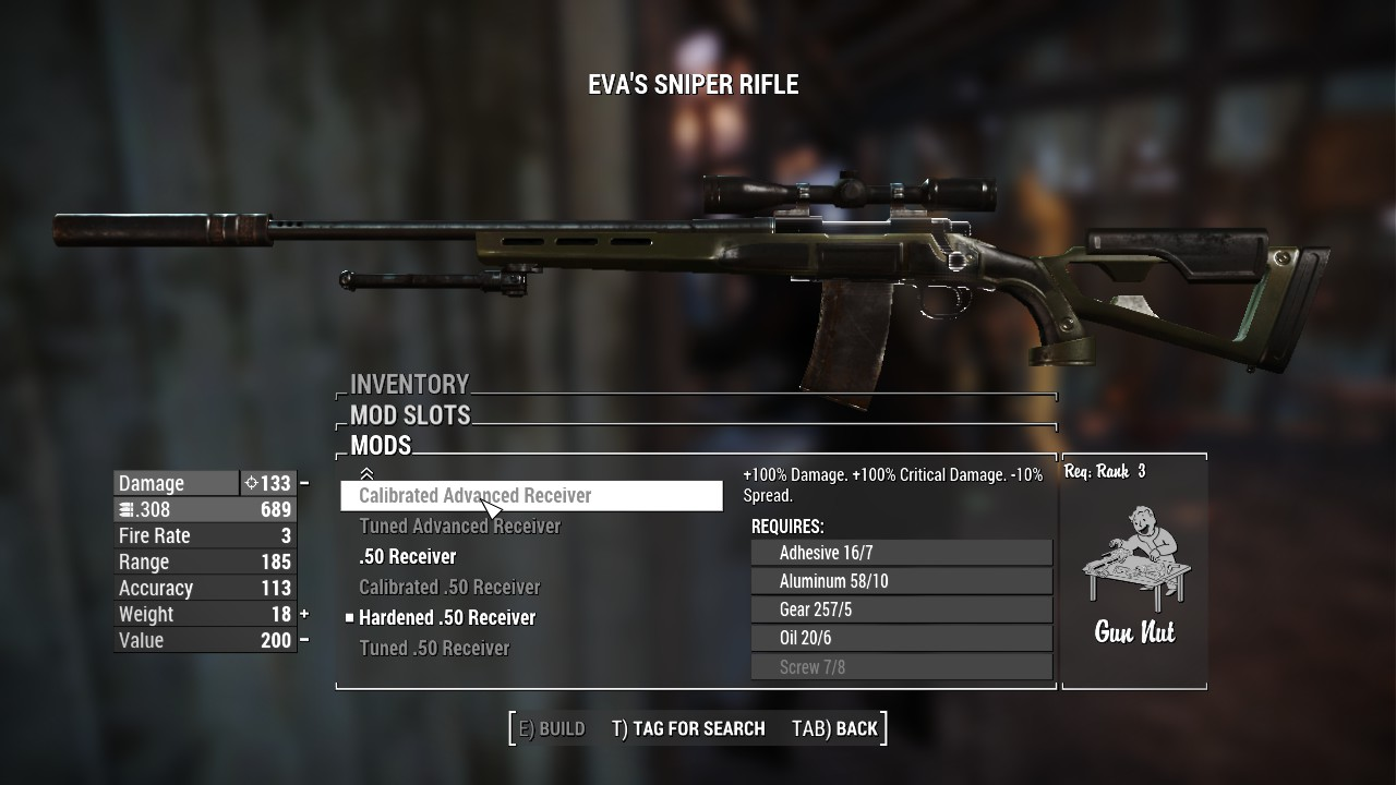 More Hunting Rifle Receivers Fallout 4 Mods Because the gun doesn't feel right to me with it's current firing rate. more hunting rifle receivers fallout